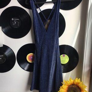 Subtle sparkle Navy Blue Lulus Dress Size XL